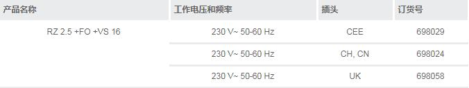 德国进口VACUUBRAND旋片泵套装 RZ 2.5 +FO +VS 16